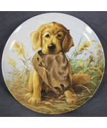 Caught In The Act Golden Retriever Collector Plate Field Puppies Lynn Ka... - $27.95