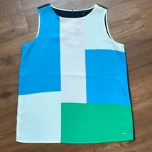 Tommy Hilfiger Colorblock Sleeveless Blouse Top NWT Misses L - $36.77