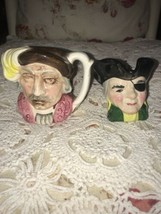 Vintage Toby Mug Pitchers Lot Of 2 Pirate Airtone Foreign - $34.65