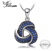 Jewelry Palace 925 sterling silver Spinel Love Knot Pendant Necklace [PE... - $23.76