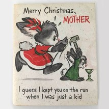 Vintage 1950s Unused Hallmark Christmas Poster Card for Mom/Mother, fold... - $6.00