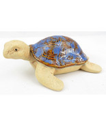 Vintage SEA TURTLE Ceramic Pottery Figurine Statue Sculpture Blue Shell ... - £15.28 GBP