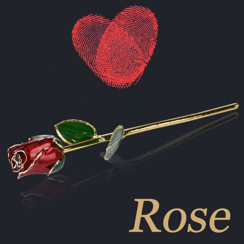 "Aliexpress Com Buy Wr Romantic Rose 24k Gold Dipped: WR 11"" 24K Gold Dipped Red Rose Romantic Flower Gift For"