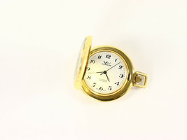 Villereuse Winding Pocket Watch Swiss Made Gold Plated 1980's Vintage New - $395.00