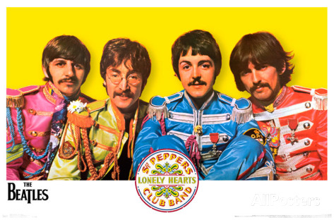Beatles sgt pepper poster 34 x 22 in