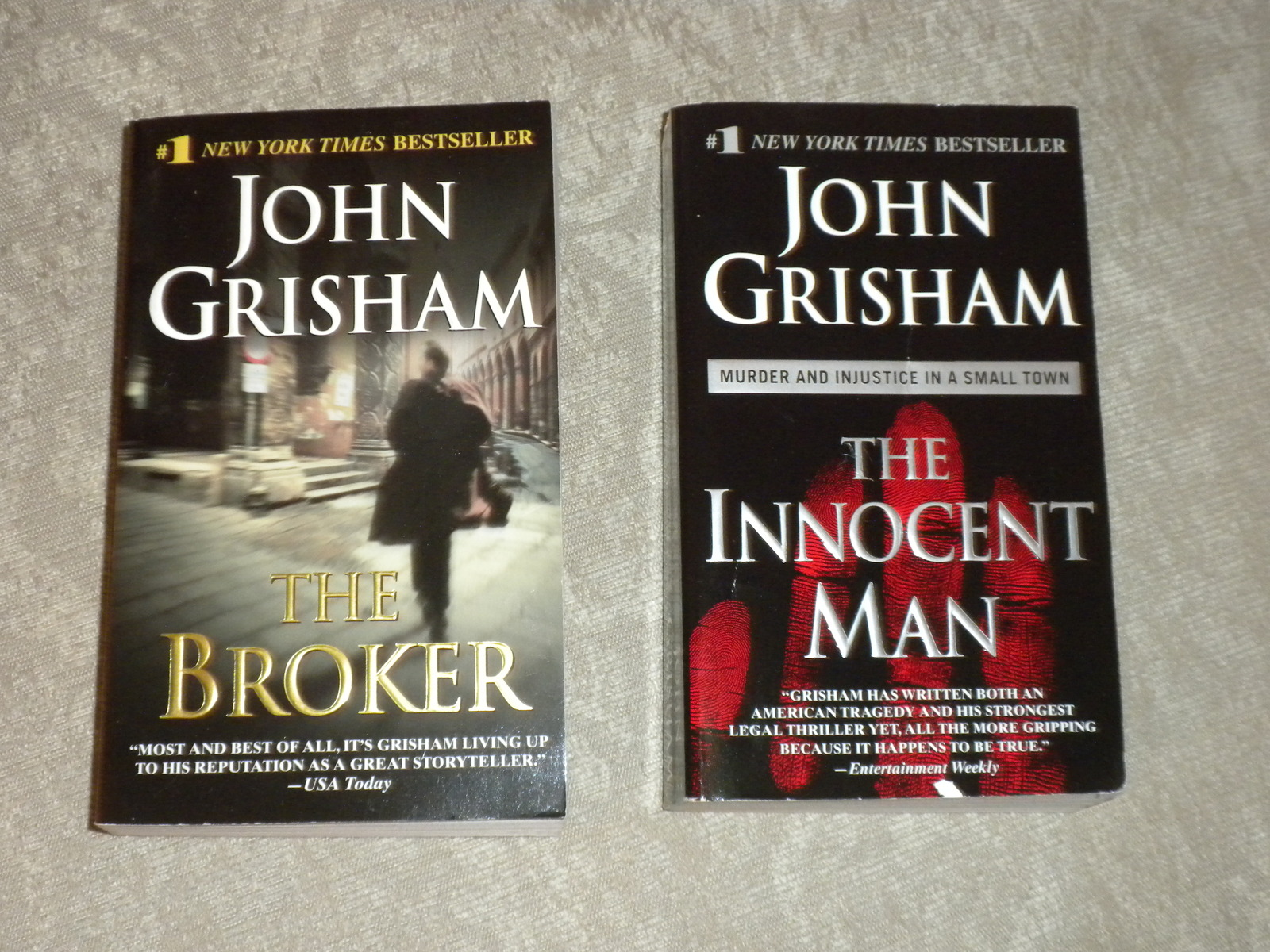 Primary image for Lot of 2 John Grisham p'rbacks: The Broker 1st 2005 VG++ & Innocent man 2007 VG