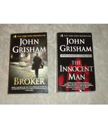 Lot of 2 John Grisham p'rbacks: The Broker 1st 2005 VG++ & Innocent man ... - $6.67