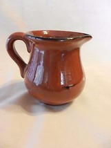 Small Brown Pottery Creamer  Gloss Glaze, Hand ... - $29.69