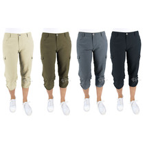 NWT Woolrich Women Trek Hiking Cargo Capri Pants Size 6-14 Gray/Khaki/Navy/Green - $27.99
