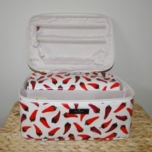 Kate Spade Large Colin Daycation Hot Peppers Cosmetic 2pc Case image 6