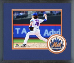 Jacob deGrom 2016 New York Mets - 11 x 14 Team Logo Matted/Framed Photo - $42.95