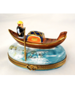 Limoges Box - Gondola Boat & Barbers Pole - Ven... - $115.00