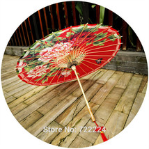 Dia 50cm Chinese Handmade Craft Oiled Paper umbrella Ancient Festival Re... - $30.74