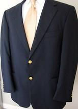 Evan Picone Blazer 40R Navy Blue Gold Buttons W... - $39.99