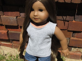 "Gray Cotton Tank Top for American Girl Doll AG Doll 18"" Doll - $3.75"