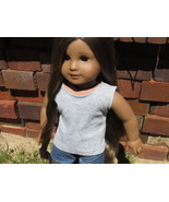 "Gray Cotton Tank Top for American Girl Doll AG Doll 18"" Doll - $9.75"