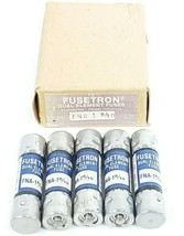 BOX OF 5 NEW COOPER BUSSMANN FNA-1-8/10 FUSETRON FUSES