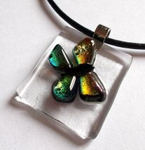 Butterfly Dance glass necklace - $56.98