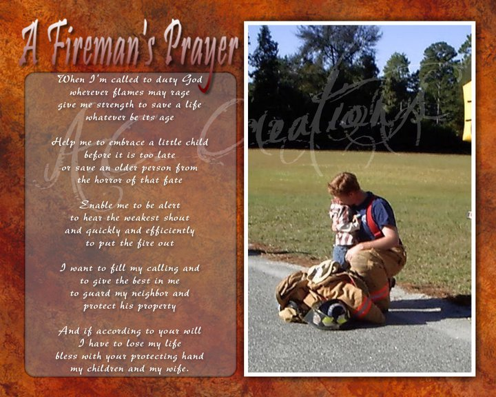 Primary image for A Fireman's Keepsake - You Print