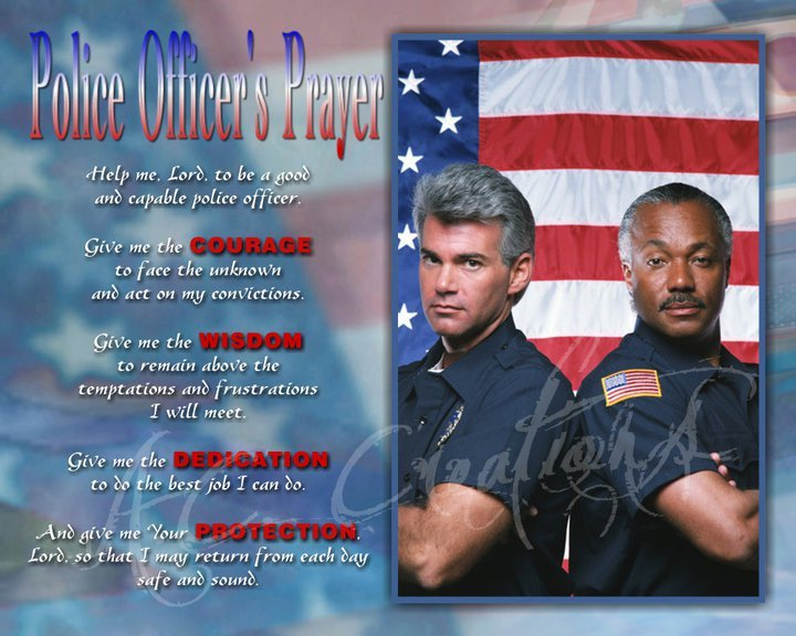 Primary image for Police Officer's Prayer Keepsake - You Print