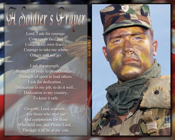 Primary image for A Soldier's Prayer Keepsake - You Print