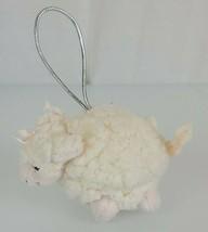 Bath & Body Works Cream Lambie Ornament Plush Lamb Sheep Mini Hanging Small - $17.81