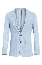 Burberry Serpentine Seersucker Blazer Sports Coat Jacket Size 52R - $148.49