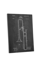 Trombone Patent Print Gallery Wrapped Canvas Print - $44.50+