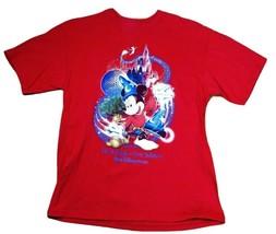 Walt Disney World Men's T-Shirt Mickey Mouse Red Size Medium MS2 - $16.81