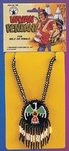 BEADED NATIVE AMERICAN PENDANT - $7.00