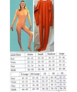 ADULT UNITARD ORANGE MENS SMALL FULL BODY SUIT - $65.00