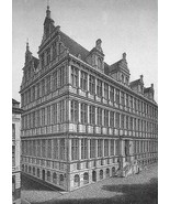 BELGIUM Ghent Gent City Hall - 1860s Antique En... - $43.56