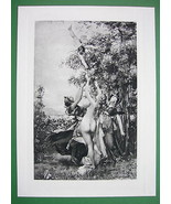 NUDE Greek Goddesses Beauty Contest - SUPERB Antique Print - $34.55
