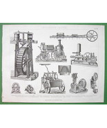 STEAM & Water Wheels Fire Engines Pumps - 1870 ... - $21.78