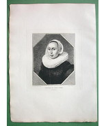 ORIGINAL ETCHING Print - Portrait of Young Woma... - $33.66