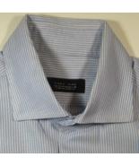 ZARA Man Rich 16 Light Blue White  Striped Spread Collar  Dress Shirt  - $99.99