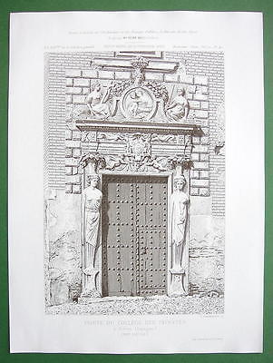 ARCHITECTURE PRINT: Spain Toledo, Gate of College Doncellas Nobles