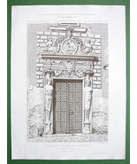 ARCHITECTURE PRINT: Spain Toledo, Gate of Colle... - $29.65