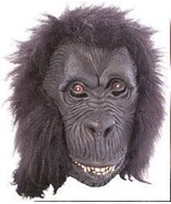 GORILLA LATEX MASK WITH HAIR - $18.00