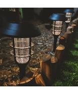 8pk Solar Light Pathway Outdoor Garden Walkway Black Stake LED Warm White - $38.99