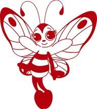 Butterfly Bee Girl Faerie Fairy Car Truck Window Laptop Vinyl Decal Sticker - $6.64+