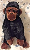 TY BEANIE BUDDIES retired 1999 Black & brown Seated Plush Gorilla mint u... - $7.42