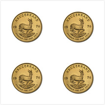4 Packs Rubber Coaster - Custom Krugerrand Gold... - $5.99