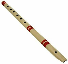 G-SCALE Traditional Indian wood Bamboo straight Flute Bansuri 6+1 HOLE [... - $14.84