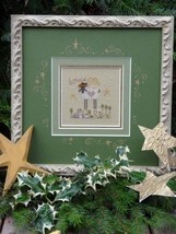 Behold Sheep christmas winter holiday cross stitch kit Shepherd's Bush - $20.00
