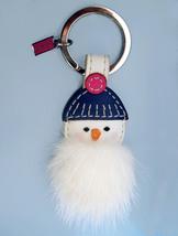 Coach Mink Snowman Key fob 93024 Keychain White... - $45.00