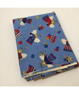 """2 & 3/8 Yards Blue with Angels Fabric 42"""" wide Fabric Traditions Cotton - $14.50"""