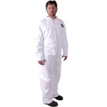 Pack of 5 DuPont Tyvek Protection Coverall w/ Zipper Front Size Large 14... - $29.99