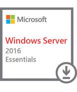 Microsoft Windows Server 2016 Essentials Version Full Retail 64 bit - $33.90