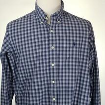 Ralph Lauren XXL Mens Shirt 2XL Blue Checkered Checked Long Sleeve - $24.18